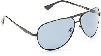 Air Strike Black Lens Black Frame Pilot Stylish Sunglasses For Men Women Boys Girls