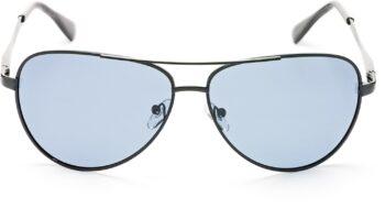 Air Strike Black Lens Black Frame Pilot Stylish Sunglasses For Men Women Boys Girls - extra